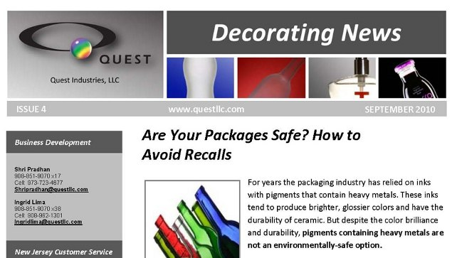 online newsletter example
