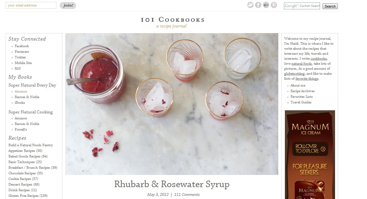 successful food blog example