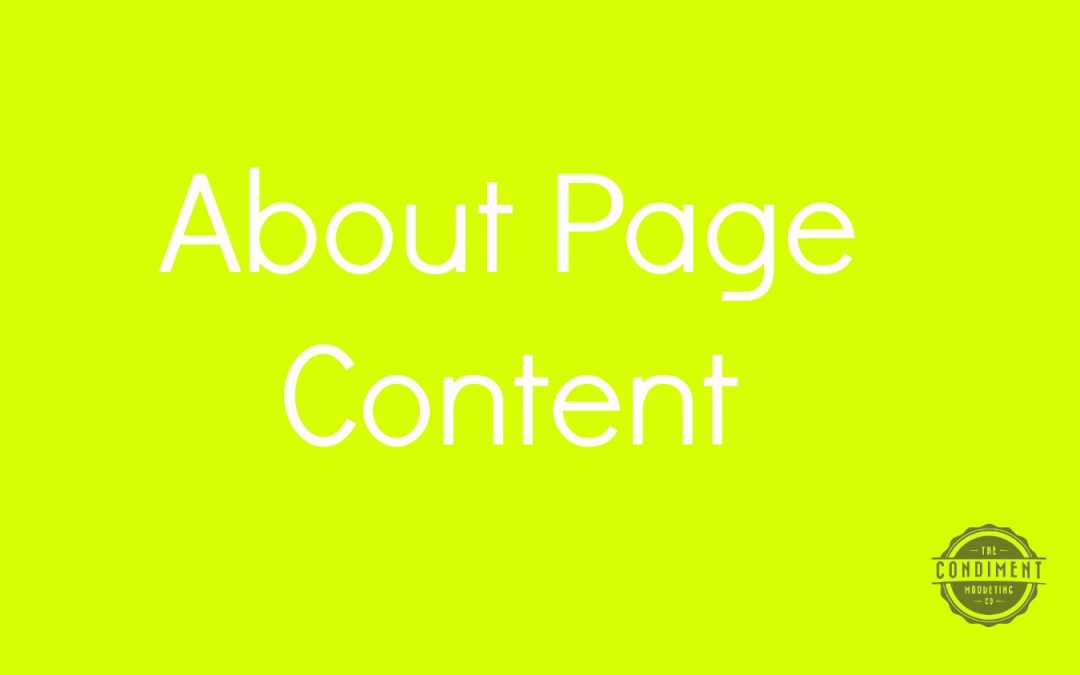 How to Write About Page Web Content