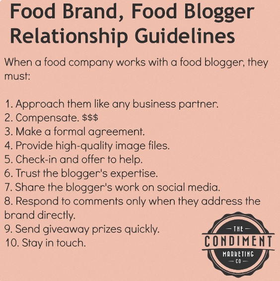 how food brands should work with food bloggers