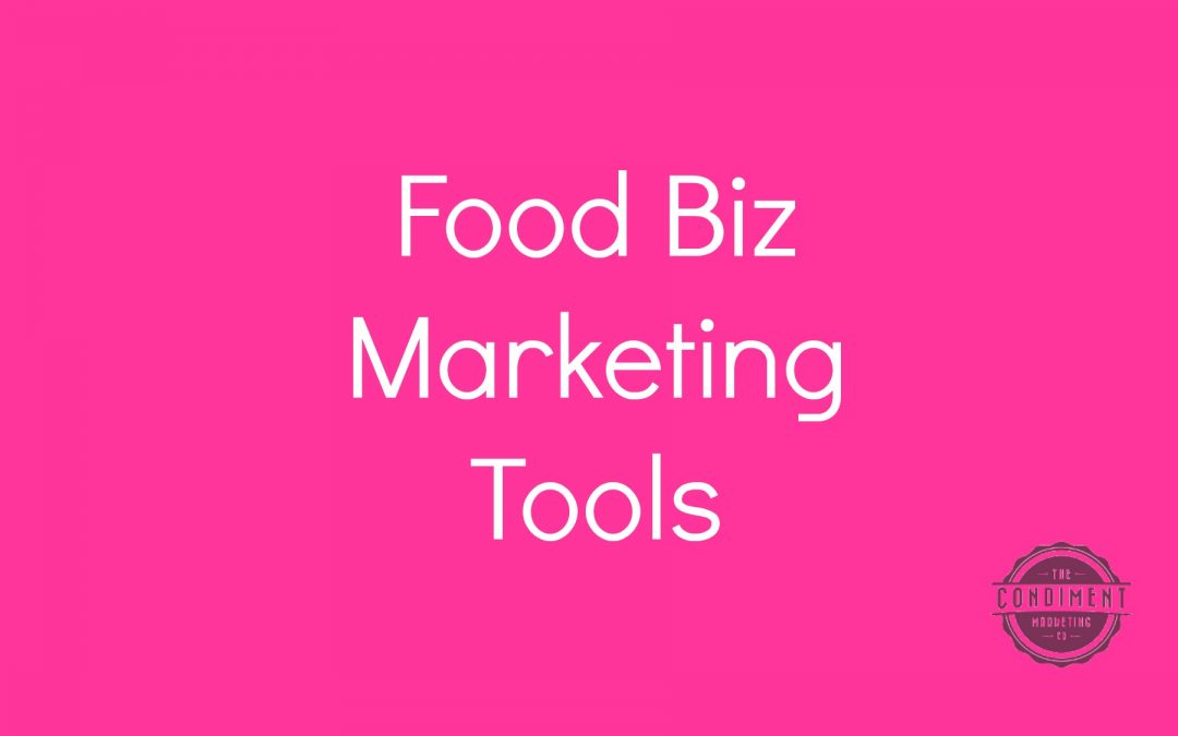 Recommended Food Biz Marketing Tools