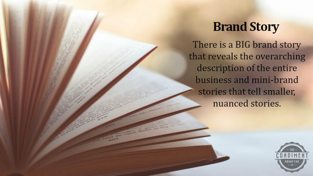 brand story food marketing definition