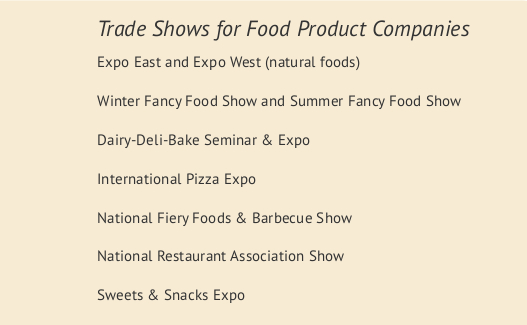 top food trade shows